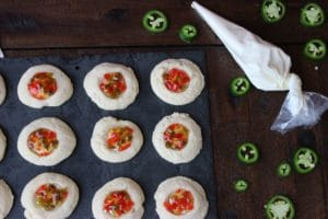 Savory Pepper Jelly Thumbprint Cookies