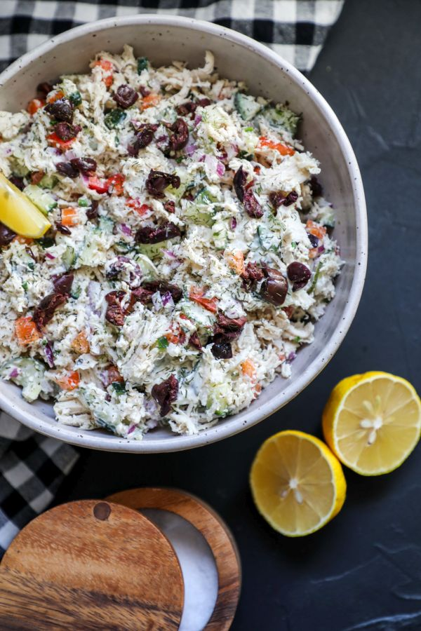 Easy Low Carb Greek Chicken Salad