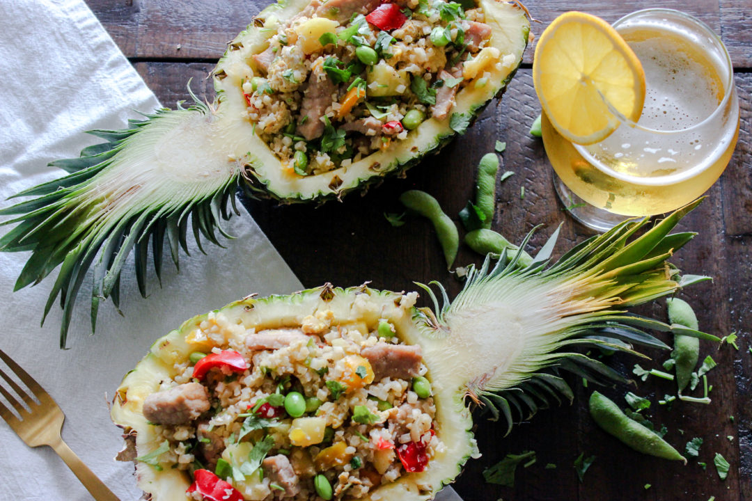 "Pineapple & Pork Cauliflower ""Fried Rice"""