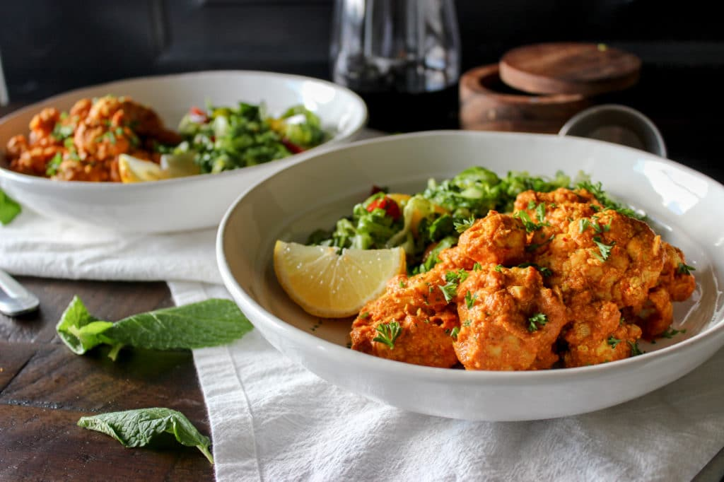Roasted Indian Style Cauliflower