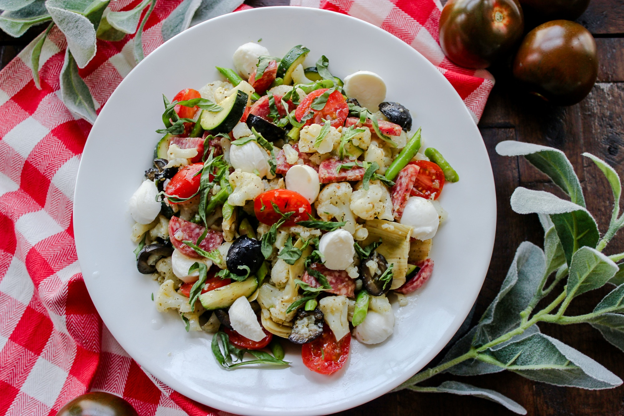 Cauliflower Antipasto Salad