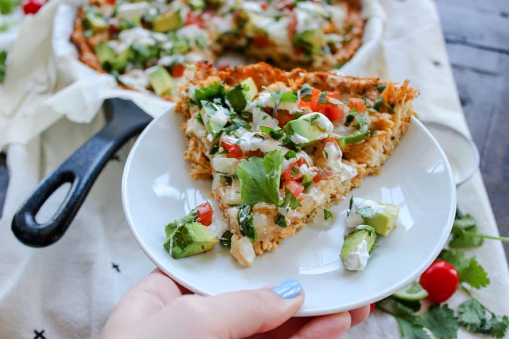 Chicken & Cauliflower Taco Pie