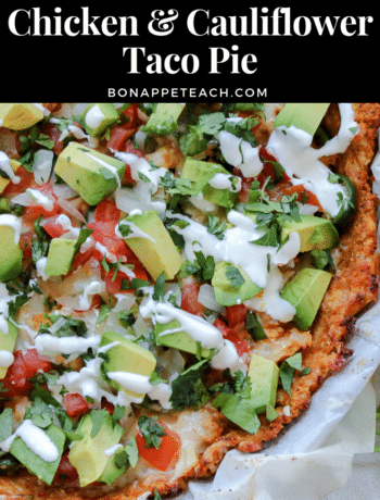 Chicken & Cauliflower Taco Pie