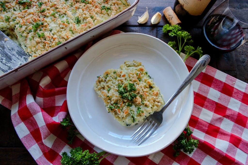 Low Carb Vegetable Lasagna with White Sauce