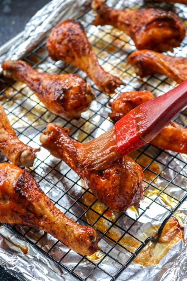 An easy keto and low carb friendly approach to getting crispy, flavorful, BBQ chicken drumsticks without having to use a fryer!