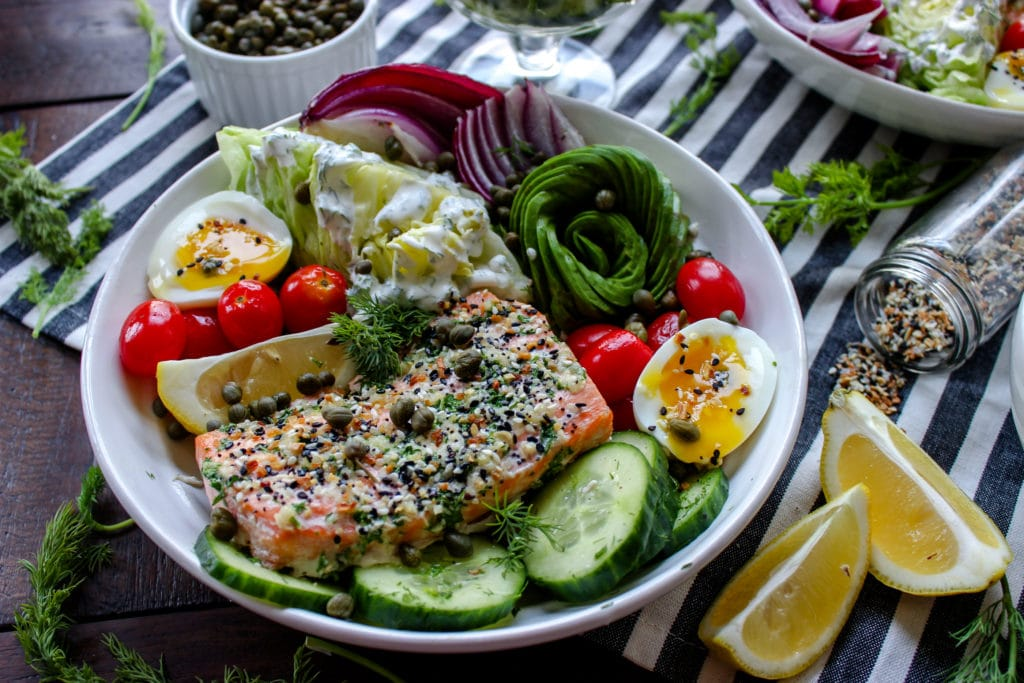 Everything But The Bagel Salmon Bowls