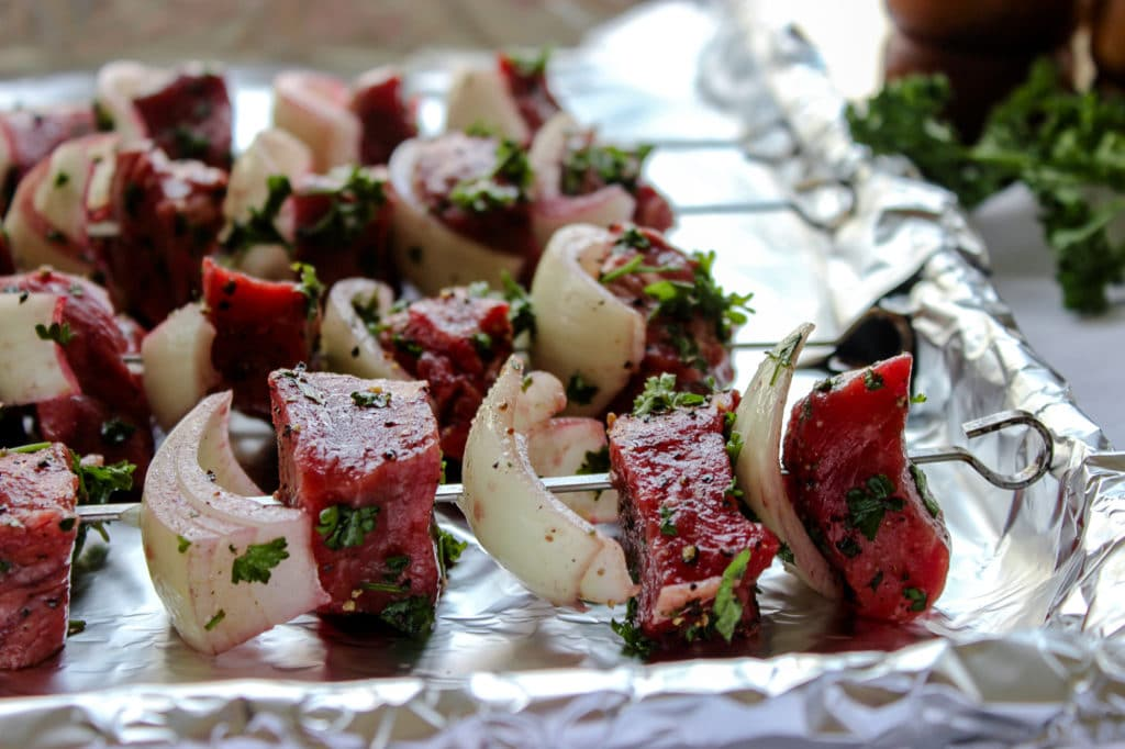Broiled Beef Shish Kabobs