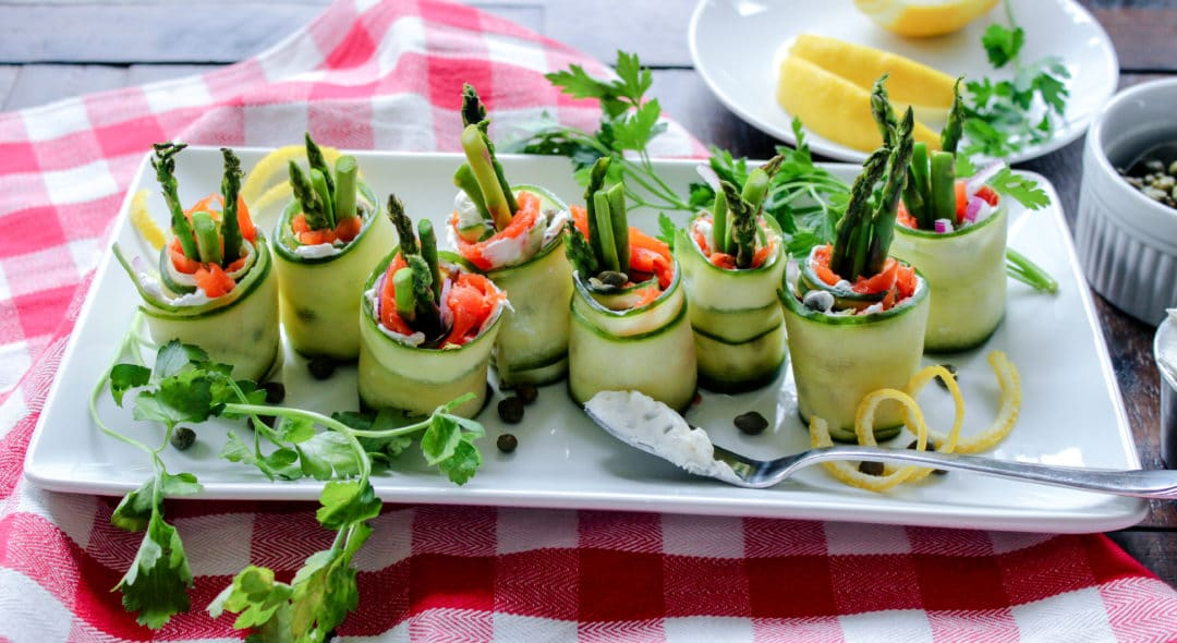 Cucumber & Smoked Salmon Roll Up's