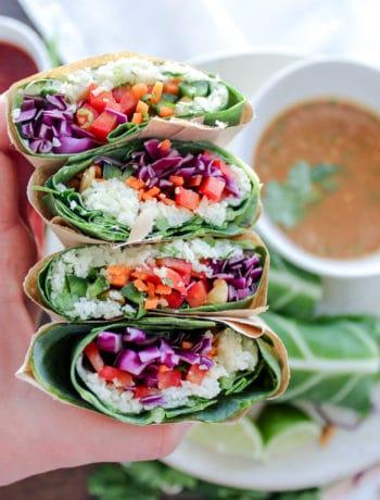 Low Carb Thai Style Veggie Wraps