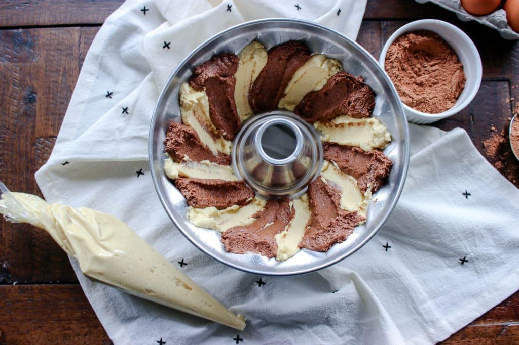 Keto Marble Pound Cake