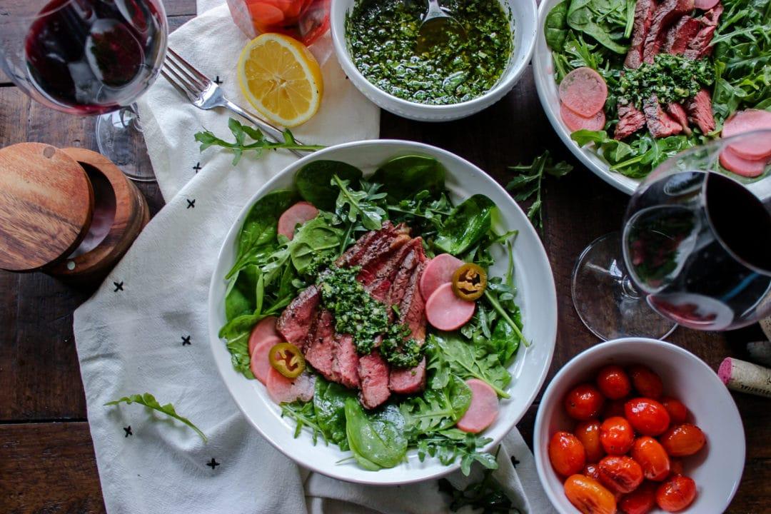 Steak Salad with Chimichurri Dressing