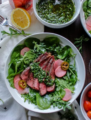Steak Salad with Chimichurri Dressing
