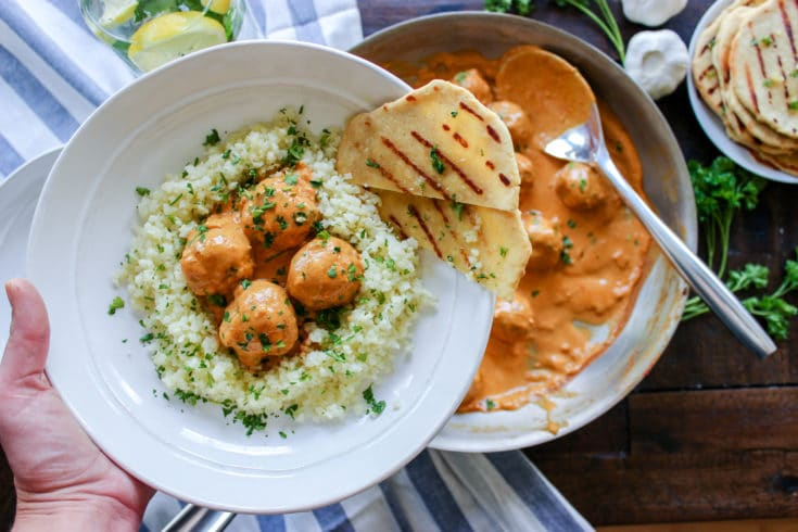 Low Carb Butter Chicken Meatballs