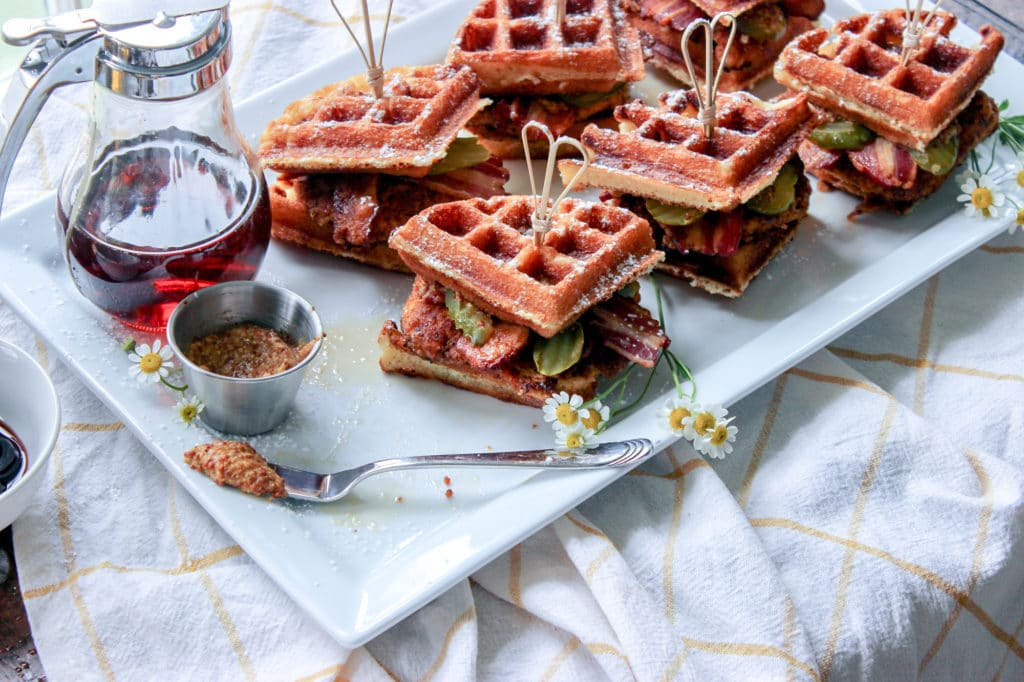 Low Carb Chicken And Waffle Bites