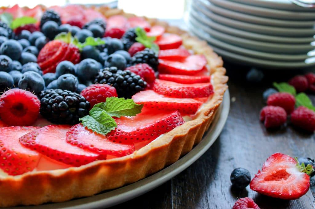 Keto Sugar Cookie Fruit Pizza