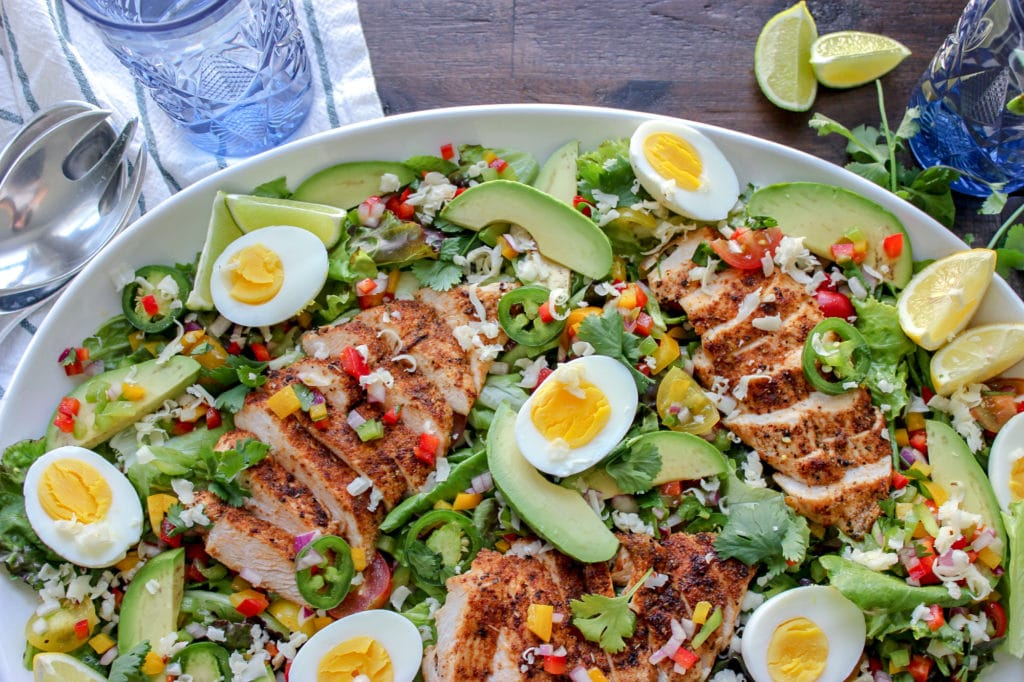 Southwestern Fiesta Salad With Avocado Dressing