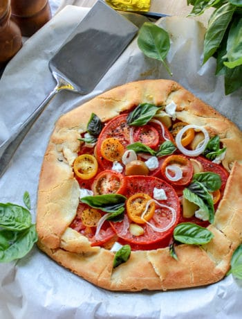 Low Carb Tomato Galette