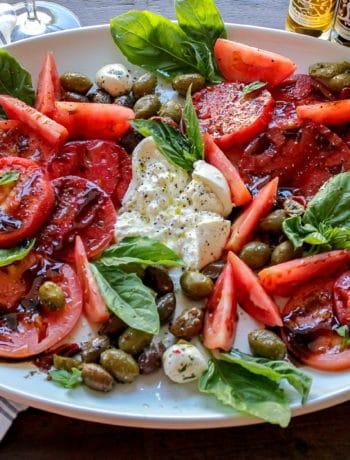 Heirloom Tomato and Burrata Salad