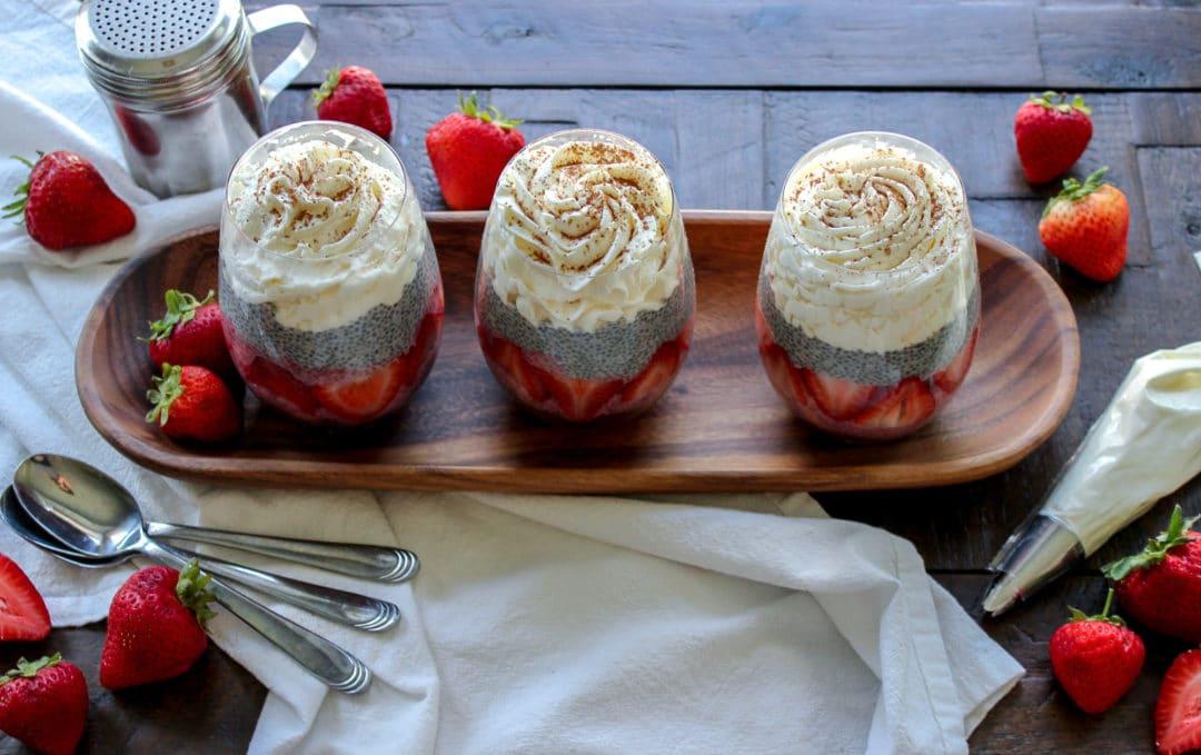 Neapolitan Chia Pudding