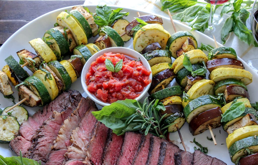 Grilled Ratatouille Inspired Kebabs