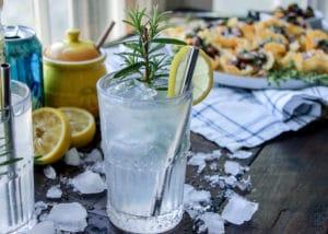The Great Gatsby- Lemon Rosemary Gin Rickey