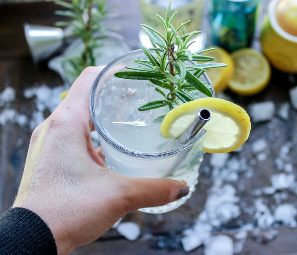Lemon Rosemary Gin Rickey