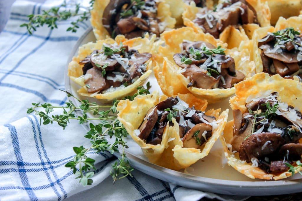 Cheese & Mushroom Tarts