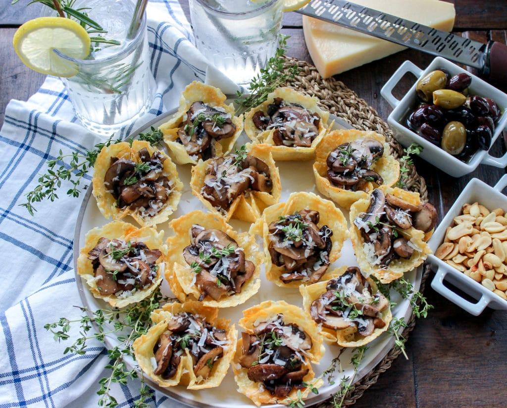 Cheese and Mushroom Tarts