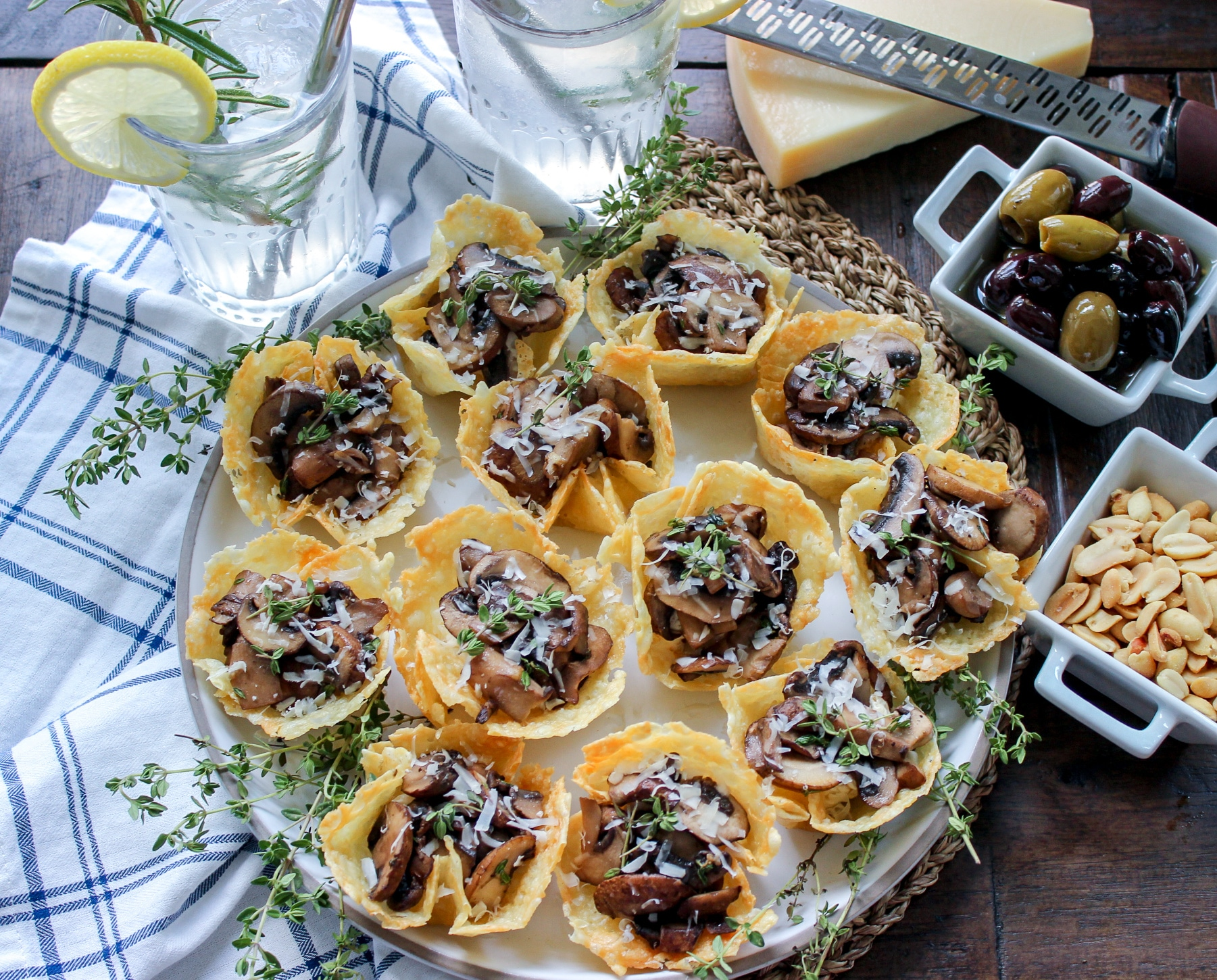 Cheese and Mushroom Tarts