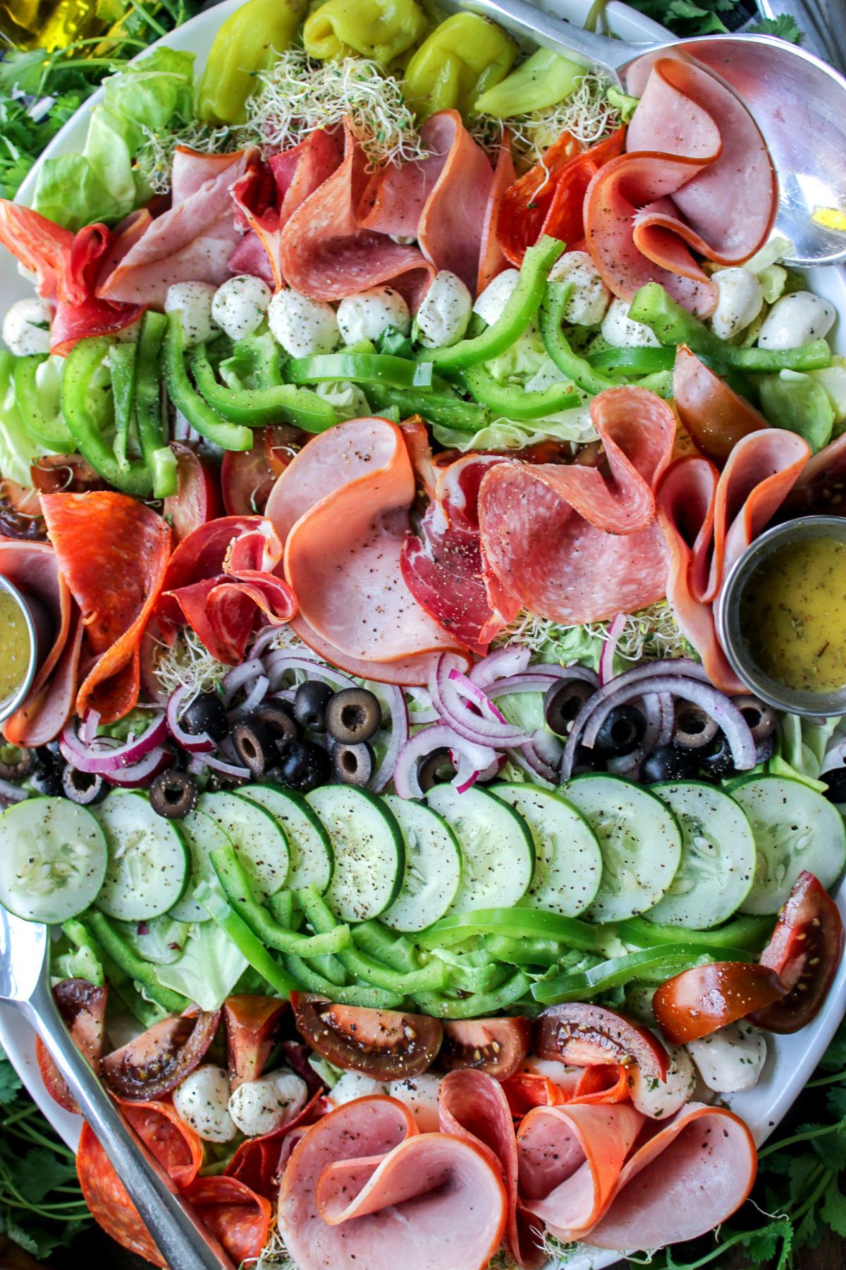Deconstructed Keto Italian Sub Salad