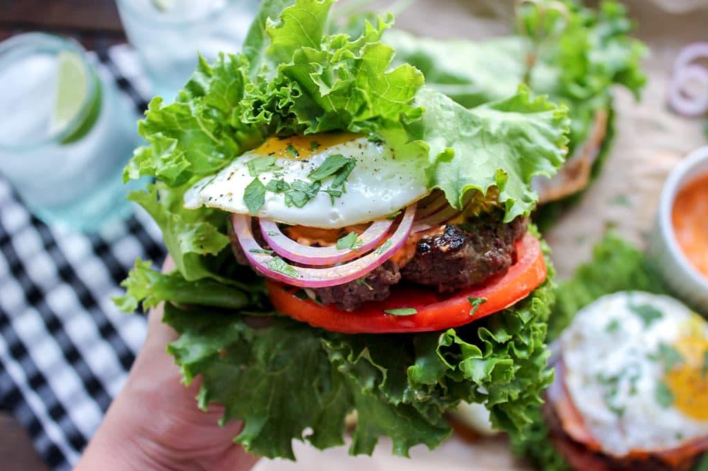 Keto Cumin Burgers with Harissa Mayo