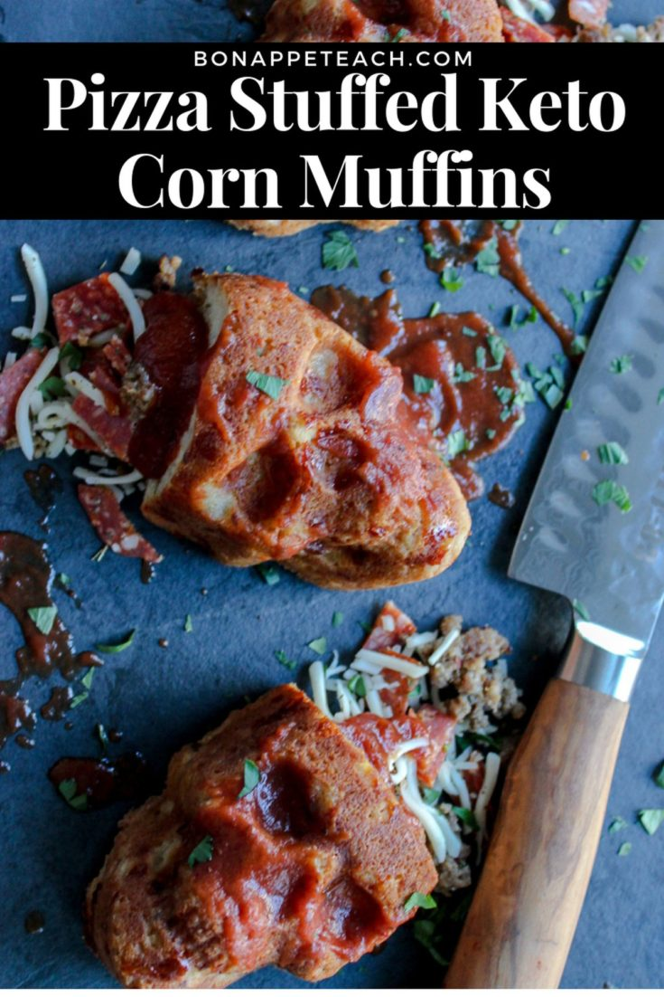 Pizza Stuffed Keto Corn Muffins