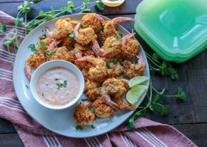 Easy Baked Cashew and Coconut Shrimp
