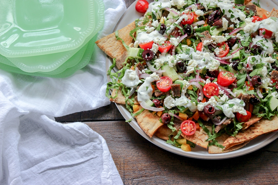 Low Carb Greek Nachos