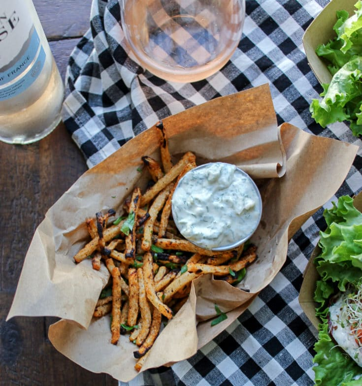Crispy Low Carb Jicama Fries