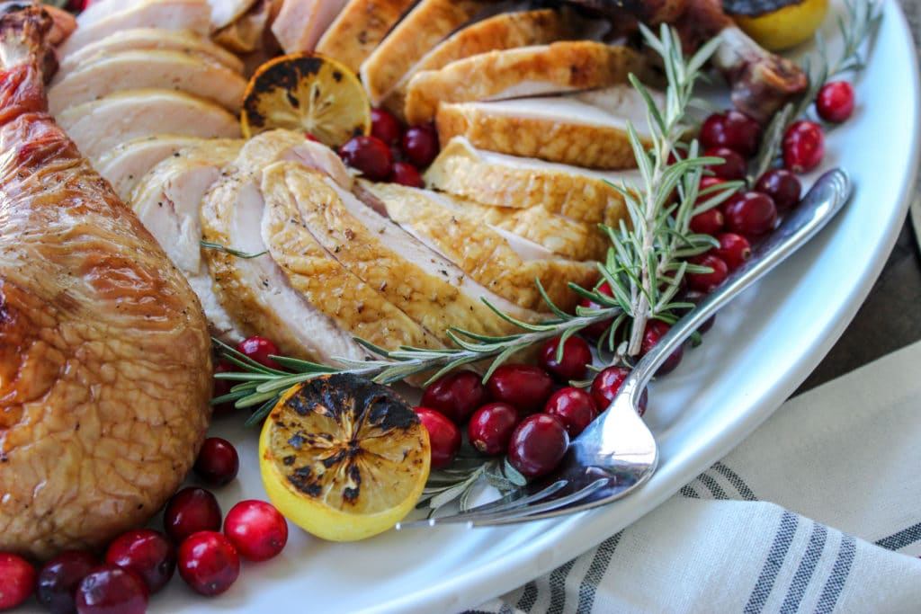 Smoked Spatchock Turkey in Champagne Brine