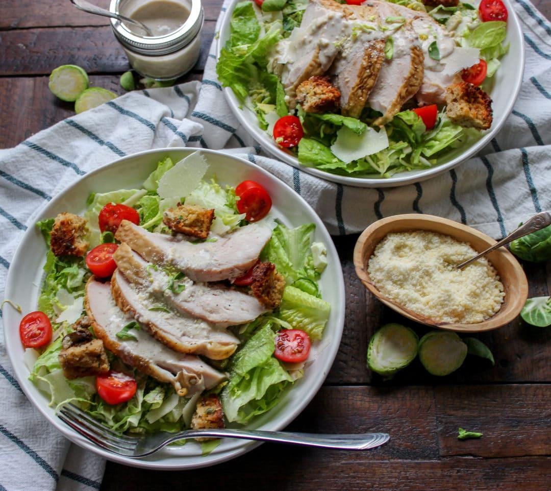 Thanksgiving Turkey Caesar Salad