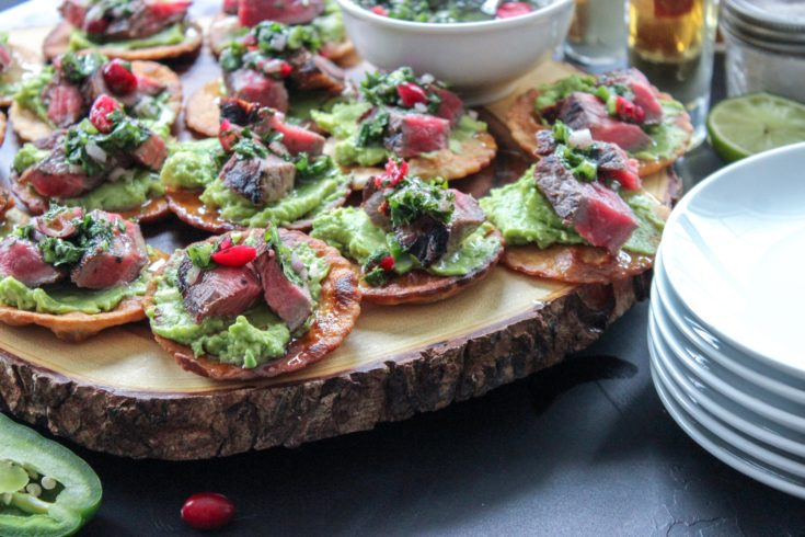 Steak & Cranberry Chimichurri Crostini
