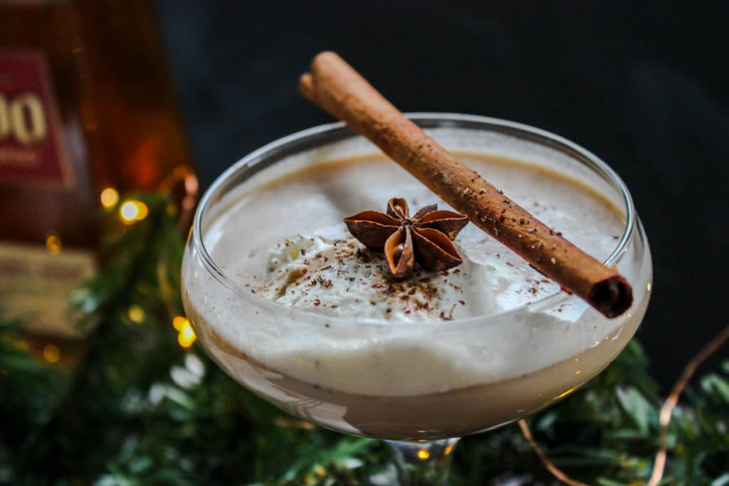 Smoked Horchata Eggnog Cocktail