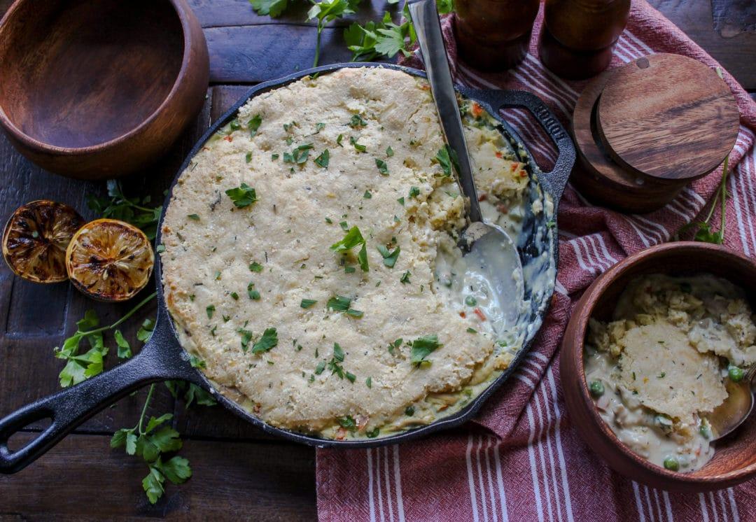 Keto Cornbread Chicken Pot Pie