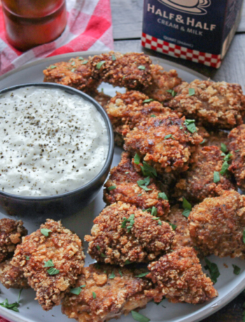 Keto Chicken Fried Steak Nuggets