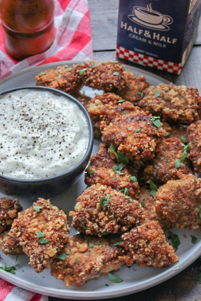 Keto Chicken Fried Steak Nuggets