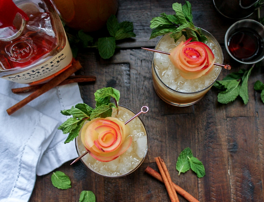 Apple Cider Whiskey Smash