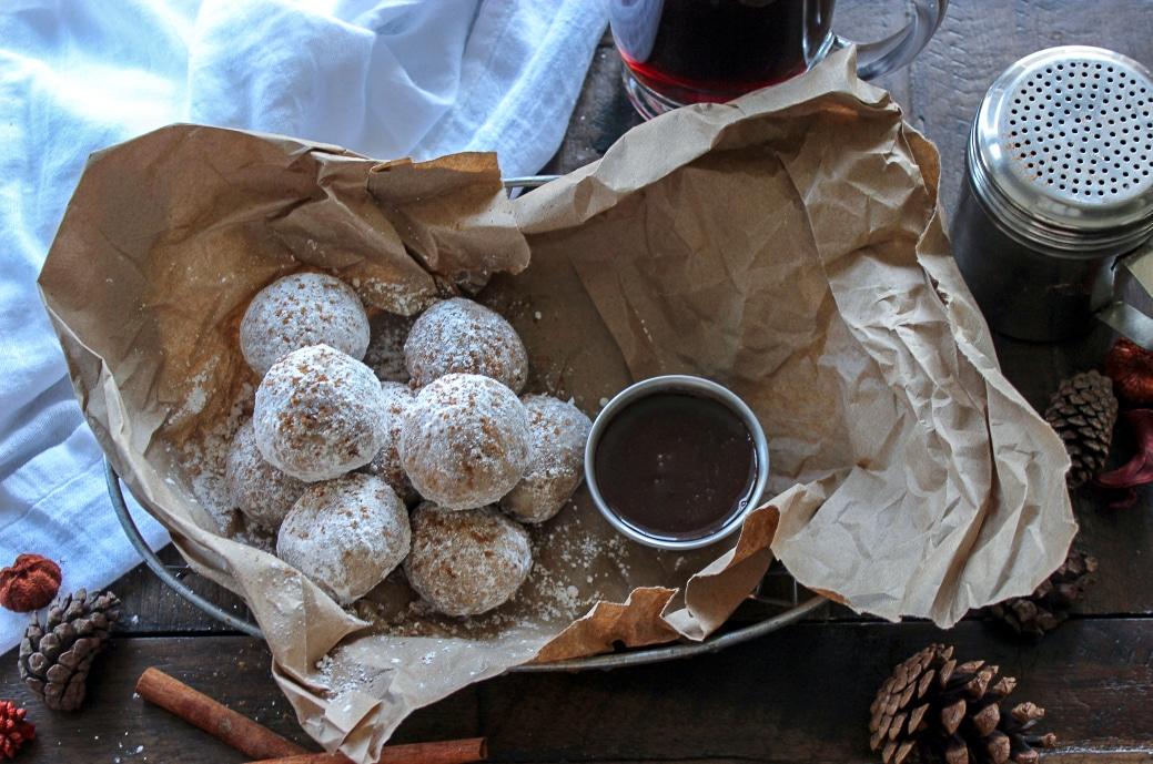 Keto Donut Holes with Sugar Free Chocolate Ganache