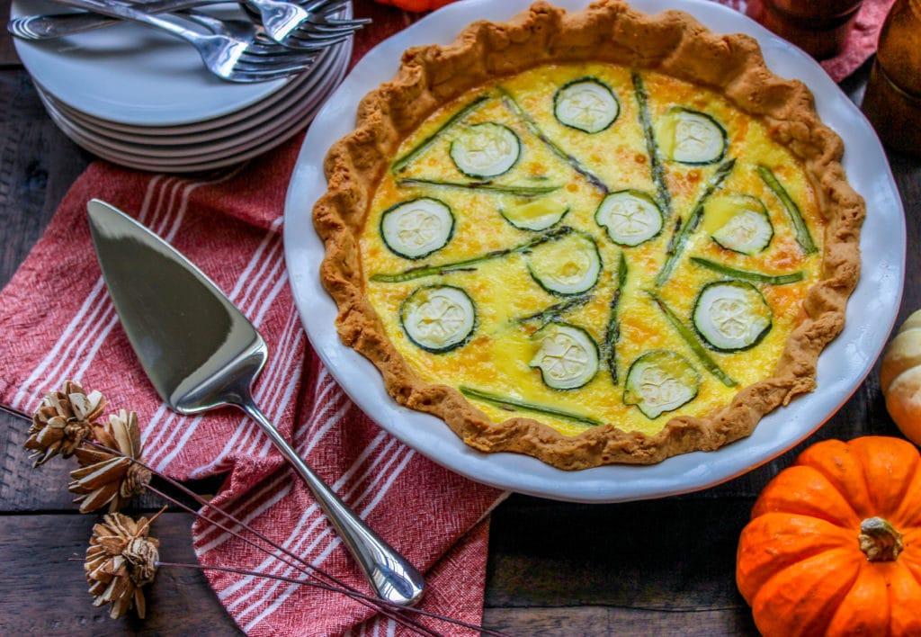 Asparagus & Zucchini Quiche