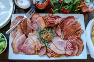 Holiday Ham with Brown Butter Whiskey Glaze