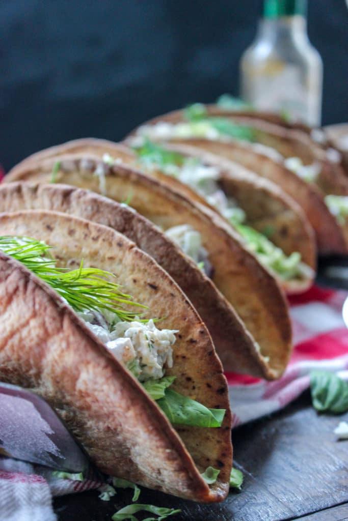 Low Carb Crab Salad Tacos