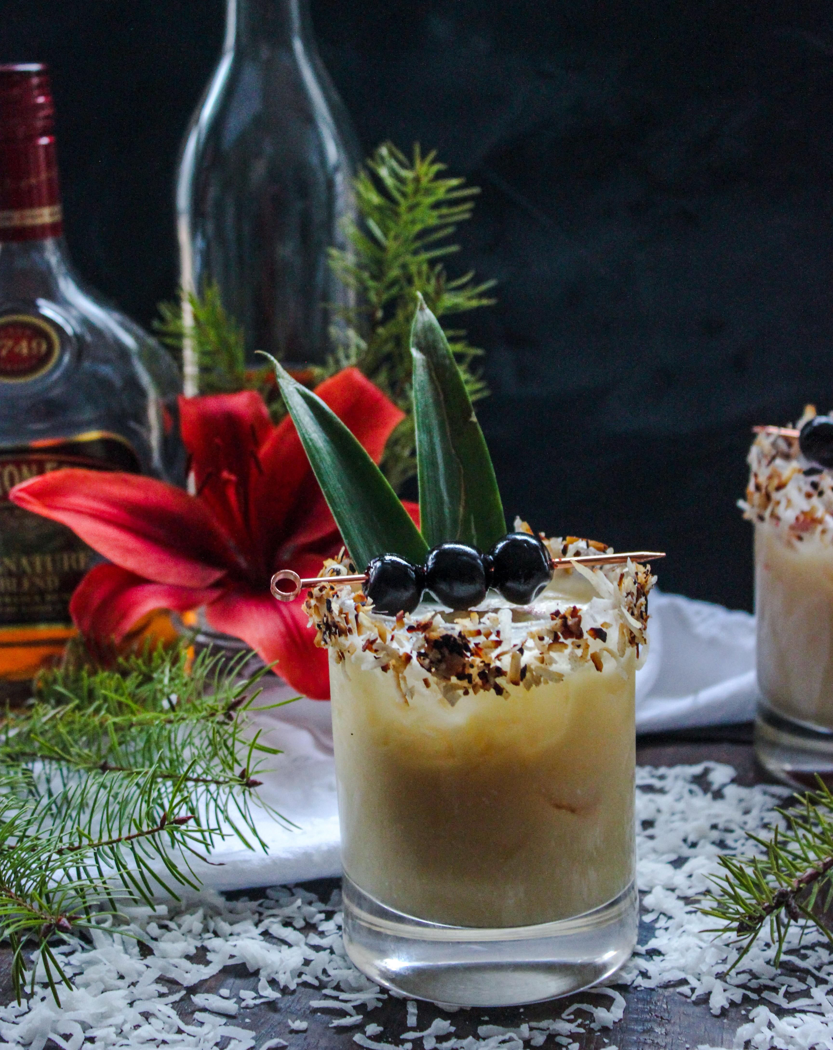 A Christmas Colada Cocktail