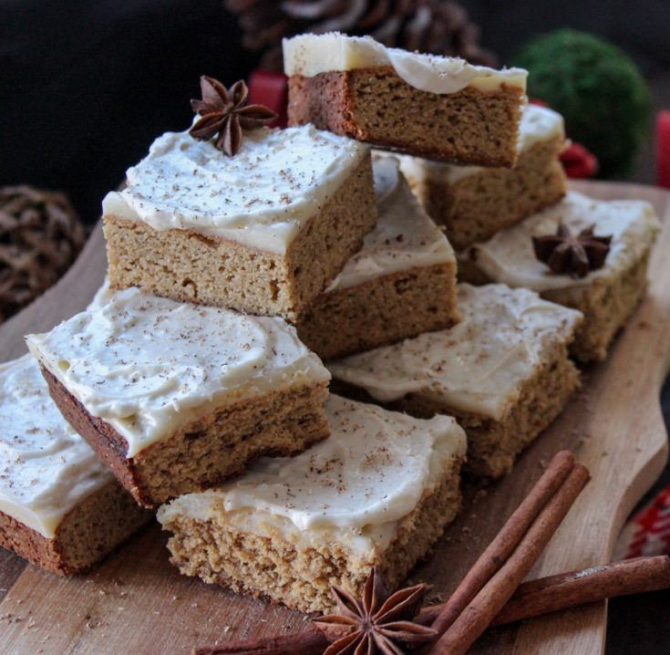 Low Carb Gingerbread Cookie Bars