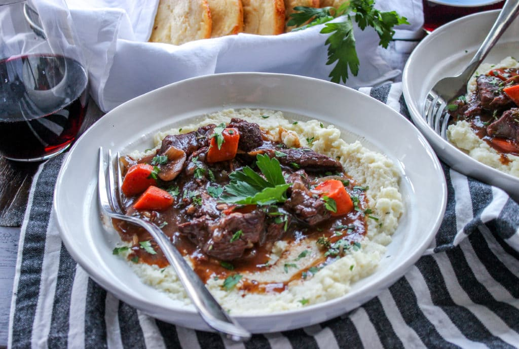Low Carb Smoked Beef Bourguignon